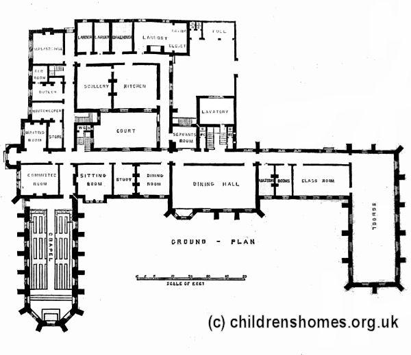 Clergy orphan school for boys st john 39 s wood london and Canterbury floor plan