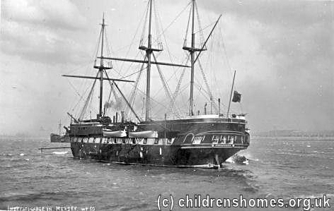 The Children's Homes website - Training Ship 'Indefatigable', New ...