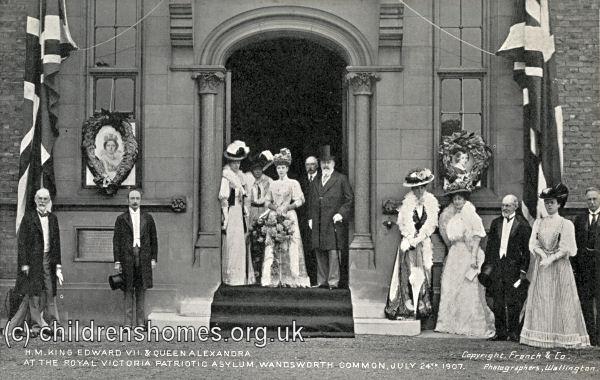 London ROYAL VICTORIA PATRIOTIC ASYLUM FOR GIRLS Original Victorian Print 1878